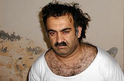 Khalid Sheikh Mohammed after his arrest in Rawalpindi, Pakistan, in March 2003 Khalid Shaikh Mohammed after capture.jpg