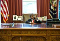 Kid President behind the Resolute desk (11665394364).jpg