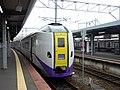 Kiha 261-1000 ST1106 Limited express Super Hokuto at Hakodate Station.jpg