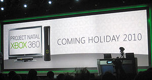 "Kinect - A January 2010 promotional banner indicating the expected release of Kinect (then ""Project Natal"") by holiday 2010"