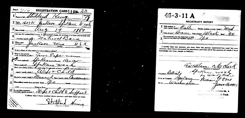 King, Stoddard WW1 draft card.jpg