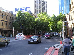 King Street, Melbourne - King Street, facing north from Flinders St