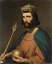 Peinture - Huile sur toile - Hugues Capet - Roi de France - Sceptre - Monarque - Souverain - Steuben - SchoolMouv - Histoire - CM1