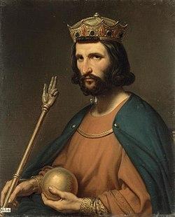 Portrait d'Hugues Capet par Charles de Steuben, 1837