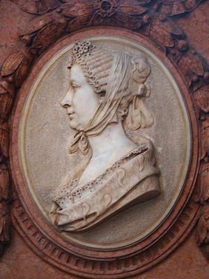 Franziska von Hohenheim - Grave memorial with portrait bust, 1906