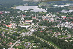 Aerial photograph of Kiuruvesi