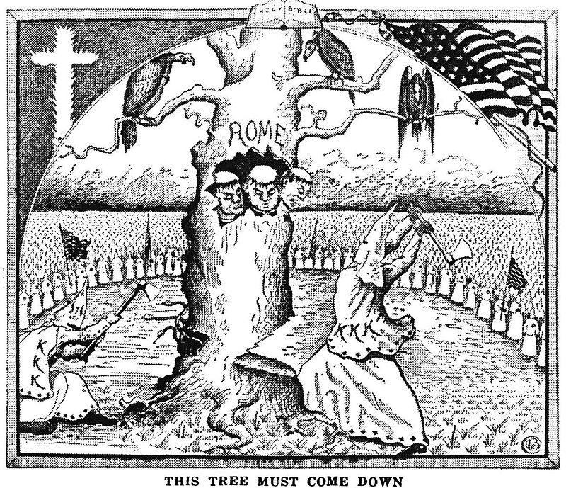Quand ils lynchaient les noirs, les blancs aussi se croyaient soldats de Dieu - Page 2 800px-Klantreerome