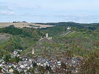 Kobern-Gondorf - Kobern with its lower and upper castles