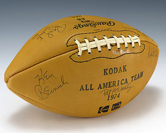 College Football All-America Team - A football signed by the 1974 Kodak All-America Team
