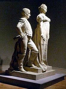 Königin Luise und Napoleon in Tilsit, Denkmalentwurf von Gustav Eberlein, 1899 (Quelle: Wikimedia)