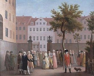 Rosenborg Castle Gardens - Entrance to Rosenborg Gardens in 1780