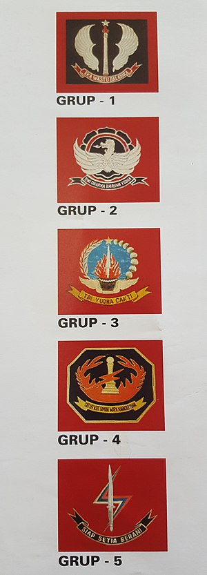Kopassus - Kopassus' Groups