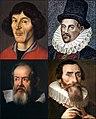 Kopernikus, Gilbert, Galilee, Kepler.jpg