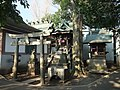 Kora-Tamadare and Inari Shrines (高良玉垂社/稲荷社) in Kitazawa Hachiman Shrine (北澤八幡神社) - panoramio.jpg