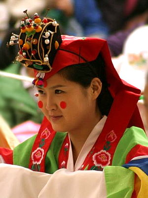 Daenggi - Image: Korean headgear Hwagwan 01