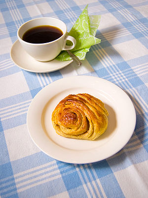 Cinnamon roll - A Finnish korvapuusti (literally: a 'slap on the ear')