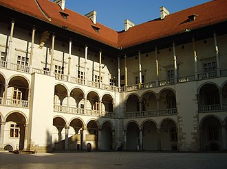 History of Poland - The Renaissance courtyard of Wawel Castle