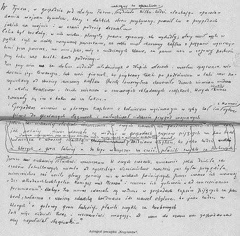 Рукопись «Крестоносцев»