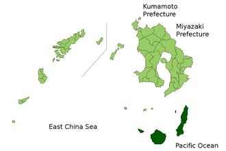 Kumage Subprefecture - Kumage Subprefecture's location in Kagoshima Prefecture