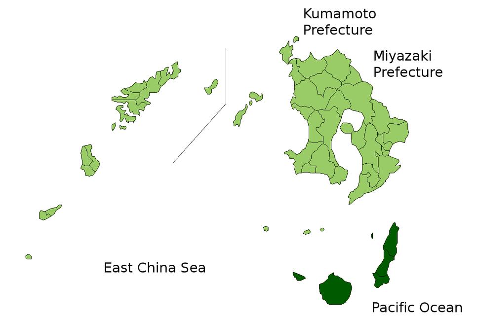 Kumage Subprefecture in Kagoshima Prefecture
