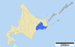 Location of Kushiro Subprefecture