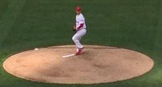 Kyle Kendrick - Kendrick pitching in a game against the Milwaukee Brewers on April 8, 2014