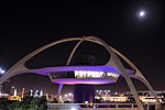 LAX Theme Building and moon from northwest 2016-07-21.jpg