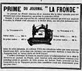 La Fronde - 1er janvier 1898 - publicité pour une machine à coudre.jpg