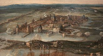 Siege of La Rochelle - La Rochelle during the siege.