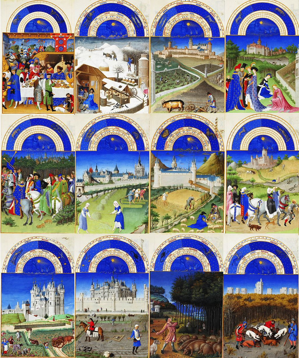 Labors of the months in Tres Riches Heures du Duc de Berry1