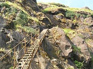 Ratangad - Image: Ladder Trail
