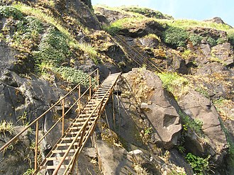 Ratangad - Image: Ladder Trail