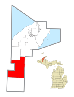 Location within Houghton County
