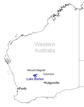 Lake Barlee - Image: Lake Barlee Map