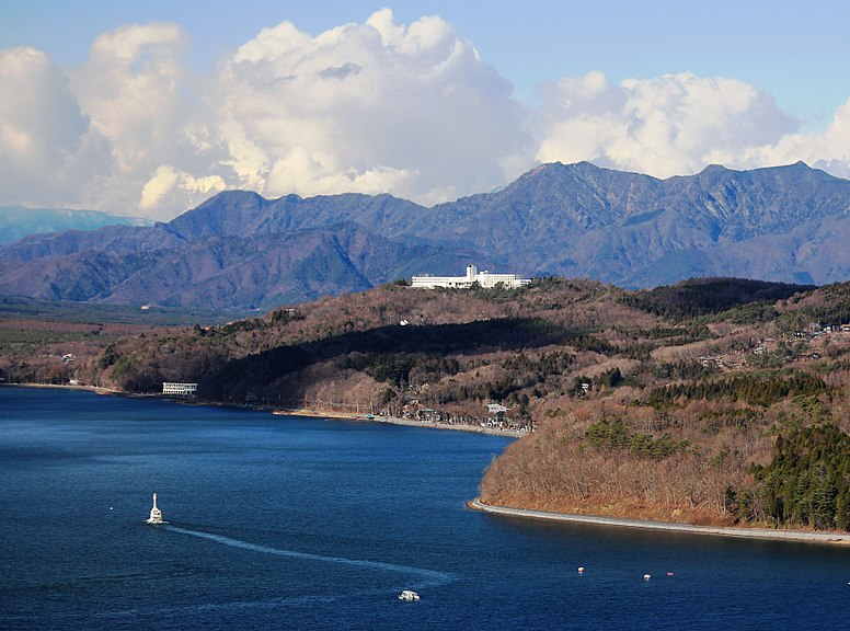 Lake Yamanaka and Misaka Mountains