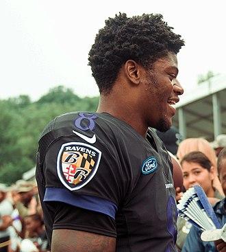 Lamar Jackson - Jackson at training camp in 2018
