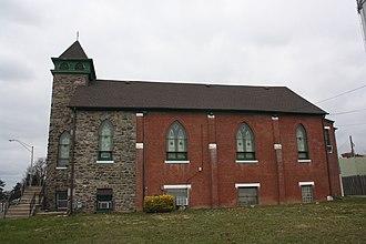 La Mott, Pennsylvania - Image: Lamott AME Church, Camptown HD 02