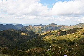 Shan Hills - View of the Shan Hills in southern Shan State