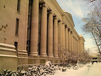 Harvard Law School - Front facade, Langdell Hall