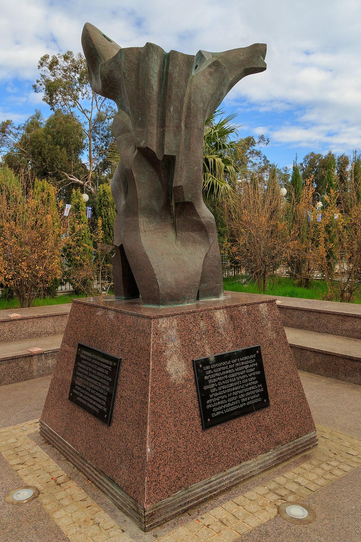 Armenian Genocide Memorial In Larnaca Wikipedia