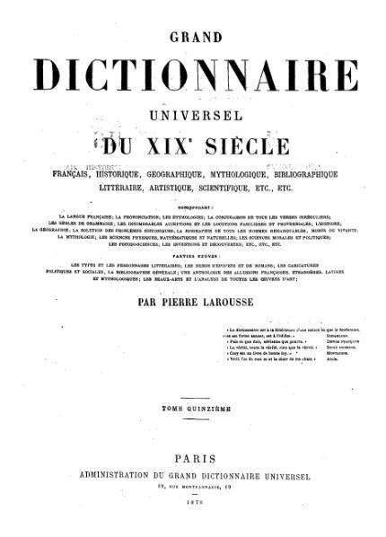 File:Larousse - Grand dictionnaire universel du XIXe siècle - Tome 15, part. 4, Vl-Zz.djvu