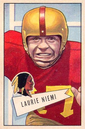 Laurie Niemi - Niemi on a 1952 Bowman card