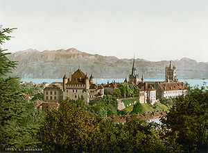 La Cité (Lausanne) - La Cité around 1900.