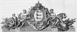 Louis August le Clerc - Le Clerc's drawing for the frontispiece at Christiansborg Palace