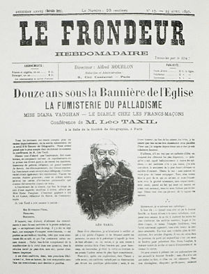 Taxil hoax - Parisian newspaper with the account of Leo Taxil's confession to the Taxil Hoax.