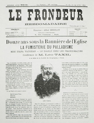 Taxil hoax - Parisian newspaper with the account of Leo Taxil's confession to the Taxil hoax