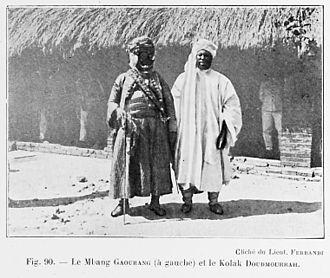 Sultanate of Bagirmi - The Mbang Abd ar Rahman Gwaranga (Left), c. 1918.