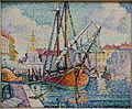 Le bateau d'oranges, Marseille, by Paul Signac, 1923, oil on canvas - Matsuoka Museum of Art - Tokyo, Japan - DSC07410.JPG