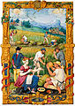 Le mois d'août, Livre d'heures de Claude Gouffier, France, vers 1545.jpg
