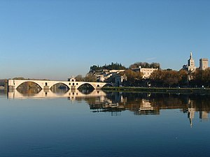 Bridge over the Rhône at Avignon